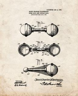 Dumb-bell and Indian Club Patent Print