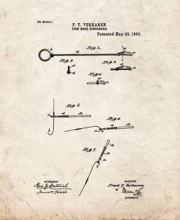 Fish Hook Disgorger Patent Print