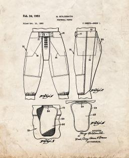 Football Pants Patent Print
