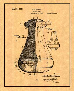 Football Dummy Patent Print