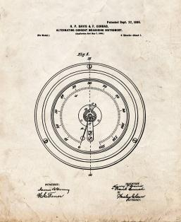 Alternating Current Measuring Instrument Patent Print
