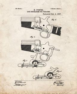 Lock Mechanism For Firearms Patent Print