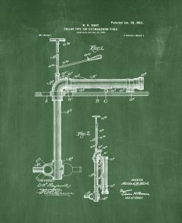 Cellar-pipe for Extinguishing Fires Patent Print