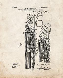 Ejector Mechanism For Exploded Shells Patent Print