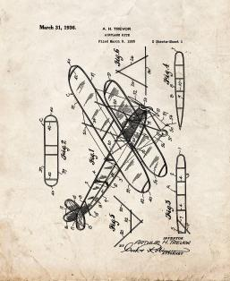 Airplane Kite Patent Print