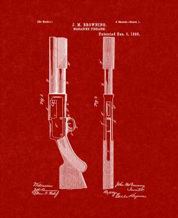 Magazine-firearm Patent Print