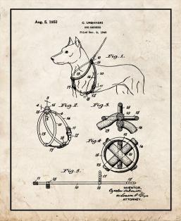Dog Harness Patent Print