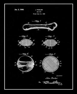 Dog Toy Patent Print