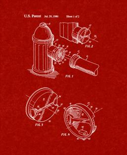 Coupling for Fire Hydrant-fire Hose Connection Patent Print