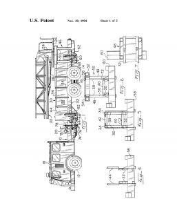 E-One Fire Truck Torque Box Chassis Frame Patent Print