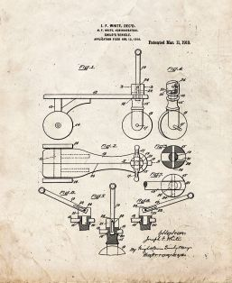 Child's Vehicle Patent Print