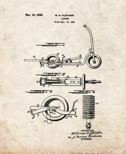 Scooter Patent Print