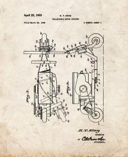 Collapsible Motor Scooter Patent Print