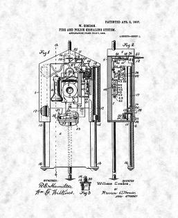Fire and Police Signaling System Patent Print