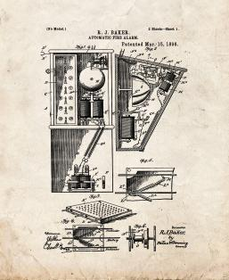 Automatic Fire Alarm Patent Print