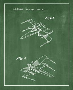 Star Wars X-Wing Fighter Patent Print