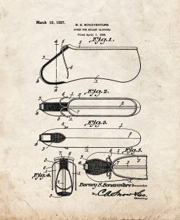 Cover for Ballet Slippers Patent Print