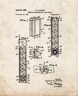 Ammunition Magazine With A Coil Spring Patent Print