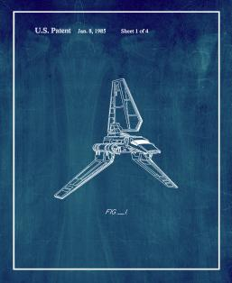 Star Wars Imperial Shuttle Patent Print