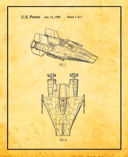 Star Wars A-Wing Patent Print