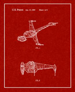 Star Wars B-Wing Patent Print