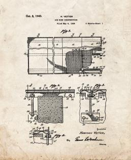 Ice Rink Construction Patent Print