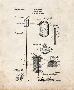 Fishing Float Patent Print