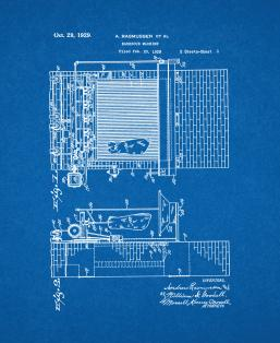 Barbecue Machine Patent Print