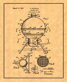 Barbeque Stove Patent Print