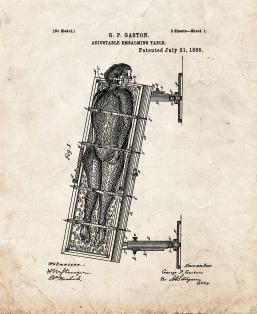 Adjustable Embalming Table Patent Print
