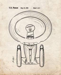 Star Trek USS Enterprise-D Patent Print