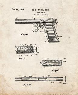 Hand Weapon Patent Print