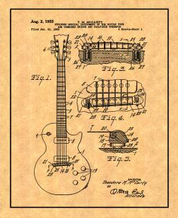 McCarty Stringed Musical Instrument Patent Print