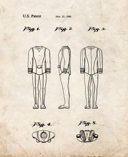 Duty Uniform - First Star Trek Patent Patent Print