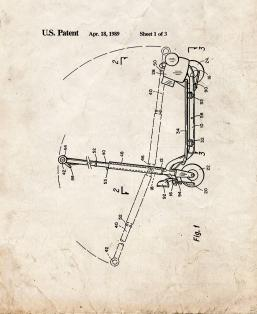 Sport Goped Motor Scooter Patent Print