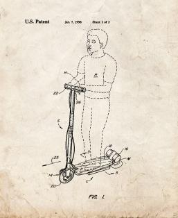 Hoverboard Goped Electric Scooter Patent Print