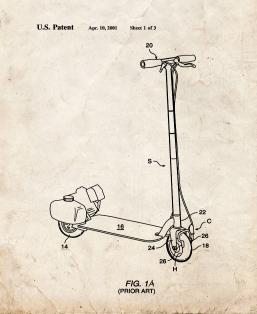 Integral Tire And Disc Brake Assembly For Scooter Utility Vehicle Patent Print