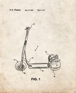 Mount For Chain Driven Sprocket And Chain Powered Scooter Patent Print