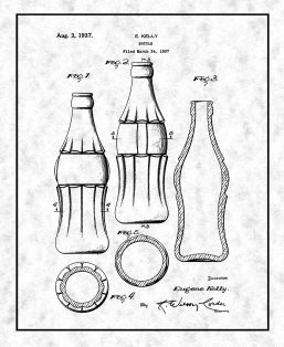 Coke Bottle Design Patent Print