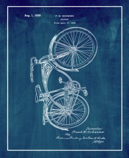 Schwinn Bicycle Patent Print