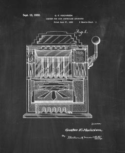 Cabinet For Coin Controlled Apparatus Patent Print