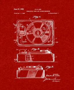 Record Player Patent Print