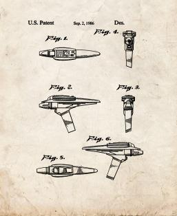 Star Trek Phaser Patent Print