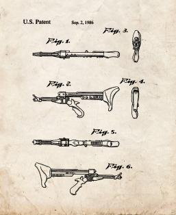 Star Trek Klingon hand weapon Patent Print