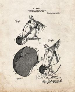 Horse's Nose Protector Or Shield Patent Print