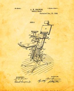 Dental Chair Patent Print