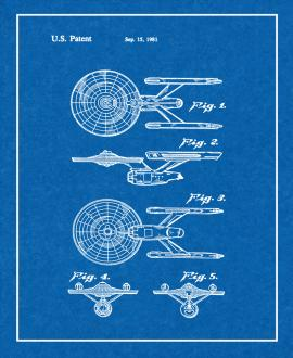USS Enterprise from Star Trek: The Motion Picture Patent Print
