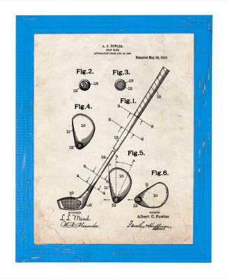 Framed Golf Patent Print