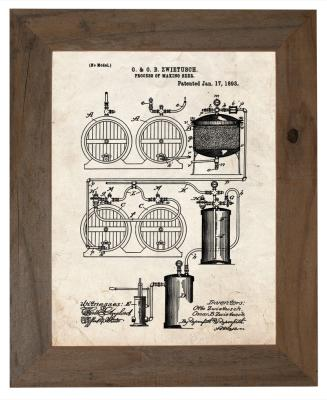 Framed Beer Patent Print
