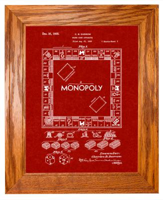 Framed Monopoly Patent Print